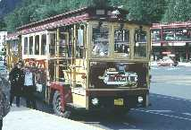 Alaskan trolley bus.