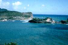 East coast, St. Lucia.