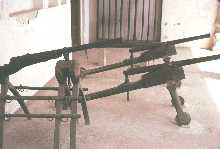 Guns in Fort museum